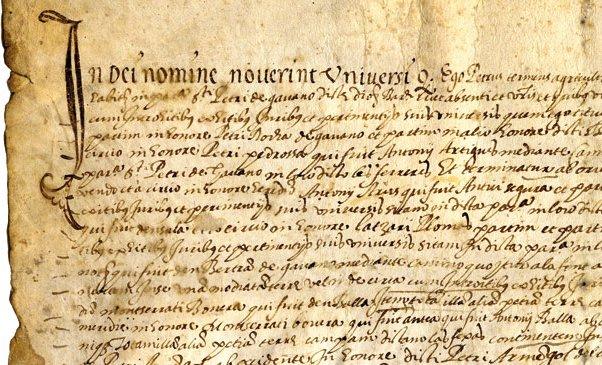 Pergaminos de Castelldefels del siglo XVI